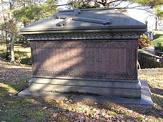 William B. Ogden - The sarcophagus of William Butler Ogden in Woodlawn Cemetery
