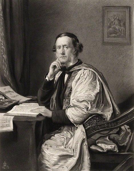 William Sterndale Bennett - engraving after a portrait by John Everett Millais, 1873