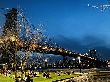Williamsburg Bridge and Domino Park