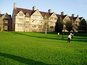 Wills Hall - Back of Old Quad as seen from the Cedar Lawn
