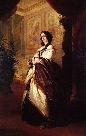 Harriet Sutherland-Leveson-Gower, Duchess of Sutherland by Franz Xaver Winterhalter, 1849 Winterhalter - Harriet Howard.jpg