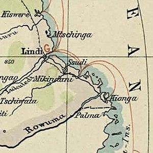 Kionga Triangle - Image: Wirtschafts Atlas der deutschen Kolonien 22 cropped