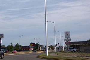 Wisconsin Rapids, Wisconsin - Looking south at WIS 13 in Wisconsin Rapids