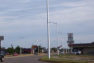 Wisconsin Rapids, Wisconsin - Looking south at WIS 13 in Wisconsin Rapids