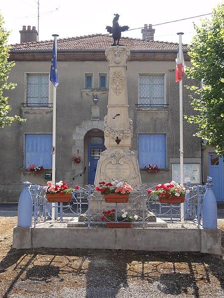 Woimbey (Meuse) monument aux morts (01) et mairie