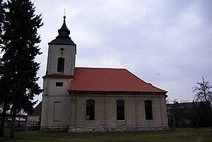 Wollin, Brandenburg - The church of Wollin