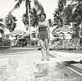 Woman Posing at a swimming pool in Florida in 1954 - 2.jpg
