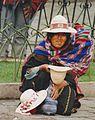 Woman begging in La Paz in Bolivia.jpg