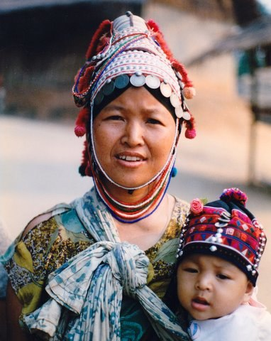 Woman with child in Thailand.