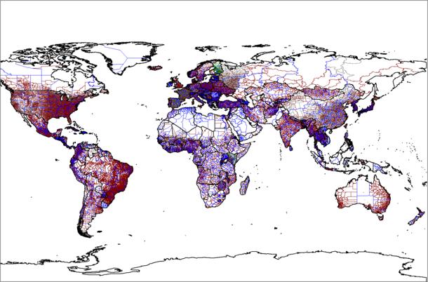 610px World administrative levels