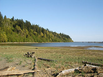 Wreck Beach - Looking south from the large sandy area near trail 6.