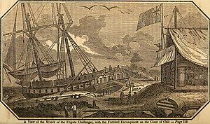 HMS Challenger (1826) - Image: Wreck of HMS Challenger