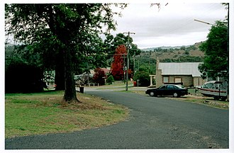 Wyangala - Wyangala village, looking towards St Vincent's Church, corner of Waugoola and Wirong Rds.