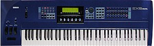 Music workstation - Yamaha EX5 (1998–2000), supports multiple-synthesis algorithms including sampling