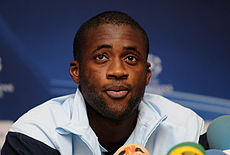 Yaya Touré during a press conference in 2009