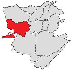 Malatia-Sebastia-district (in rood)