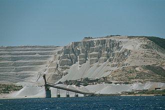 Gyali - Pumice mining on Gyali