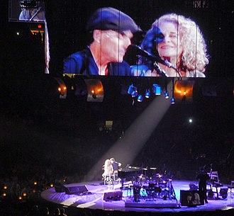 Carole King - King and James Taylor performing during their 2010 Troubadour Reunion Tour