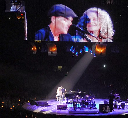 King and James Taylor performing during their 2010 Troubadour Reunion Tour You Can Close Your Eyes JT CK 2010 - crop.jpg