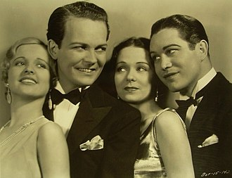 Don Dillaway - Dillaway (second from left) In Young as You Feel (1931)