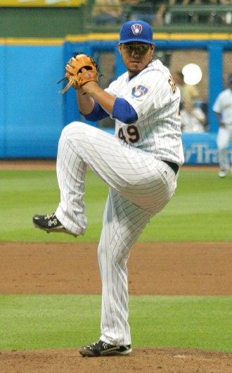 Yovani Gallardo - Gallardo pitching for the Milwaukee Brewers in 2009
