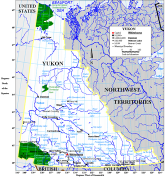 141st meridian west - The western border of Yukon (with Alaska) is defined by the meridian.