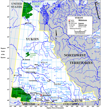 Geography of yukon wikipedia a map of yukon gumiabroncs Image collections
