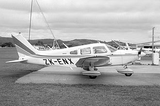 1993 Auckland mid-air collision - Piper Archer ZK-ENX, the crash aeroplane