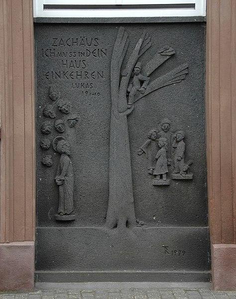 File:Zachäustafel am Pfarrhaus Marmagen.jpg