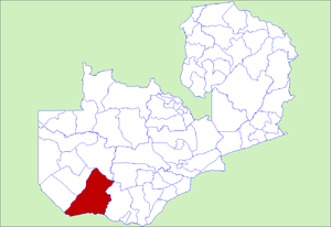 District location in Zambia