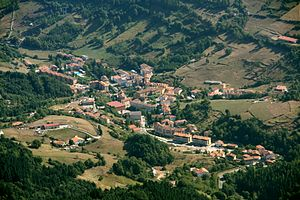 Zegama - View of Zegama from Aizkorri
