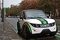 Zencar Tazzari Zero recharging at Ave Louise, Brussels, Belgium.jpg