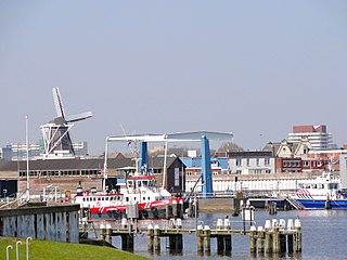 Delfzijl City in Groningen, Netherlands