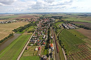 Zlonice - Aerial view of Zlonice