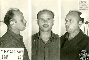 Zygmunt Szendzielarz - Photo after arrest 1948