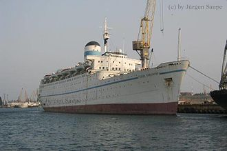 RMS Ivernia - Fedor Shalyapin Laid up in Illichivsk.