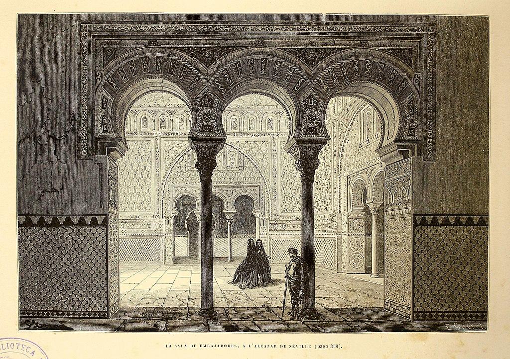 Salle des Ambassadeurs du Real Alcazar de Séville.