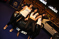 """ 09 NEC Classic Car show 2009 Lancia Motor Club with new Delta three women.jpg"