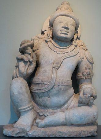 Norton Simon Museum - 'Digambara Yaksha Sarvahna' from Karnataka, India, c. 900 CE