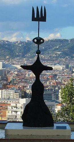 'Moon, Sun, and one Star', sculpture by Joan Miró.JPG