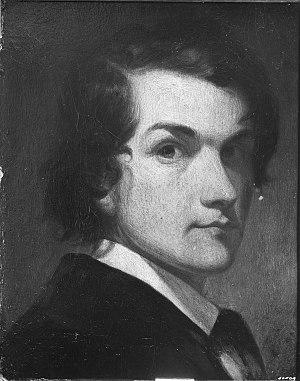 Edwin White - 'Self-Portrait at Nineteen' by Edwin White, c.1836