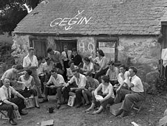 (A group of London Welsh youngsters who spent the Caernarfon Eisteddfod week camping on a farm yard) (5987767846).jpg