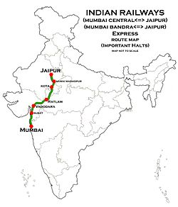 (Jaipur - Mumbai) Express Route map.jpg