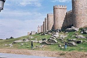 La Muralla de Ávila (provincia de Ávila), construida en la Edad Media.