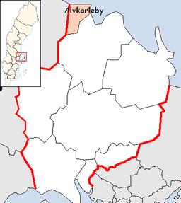 Älvkarleby kommunes beliggenhed i Uppsala amt