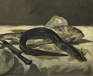 Red mullet - Rouget et Anguille, by Édouard Manet (1864).