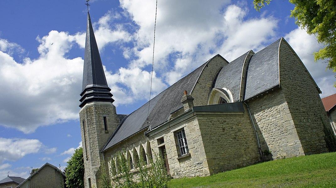 église à Villers-Franqueux.