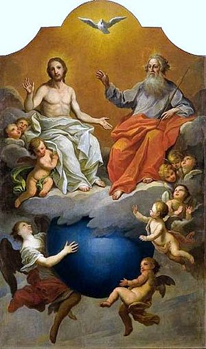 Trinity - Holy Trinity, depicted by Szymon Czechowicz (1756–1758)