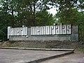Ваенны мэмарыял у Панарскім лесе. WW2 memorial in Paneriai - panoramio (1).jpg