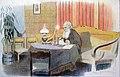 В. Россинский. За последней работой (Оптина пустынь). Бумага, карандаш. Авторская литография. 29x45 см.jpg